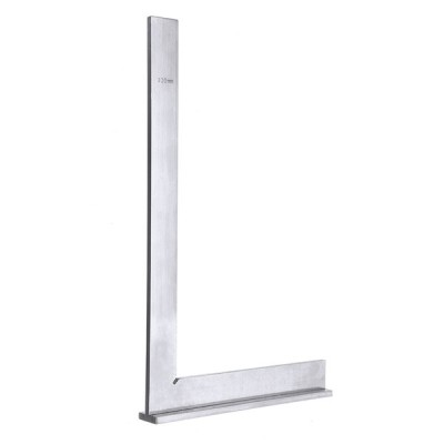 300×180ミリメートルステンレス鋼90度角コーナースクエアルーラーワイドベースゲージ木工測定ツール
