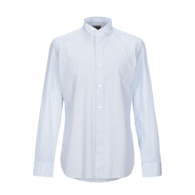 GIAMPAOLO シャツ スカイブルー 42 コットン 100% シャツ