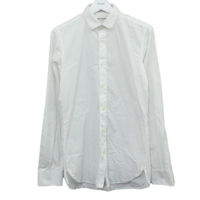 SAINT LAURENT PARIS プレーンシャツ 376954 ホワイト サイズ:38/15 (新宿店ANNEX) 200730