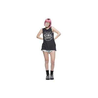 Tシャツ 海外厳選ブランド レディース Social Decay Girl Gang Muscle Tシャツ ブラック