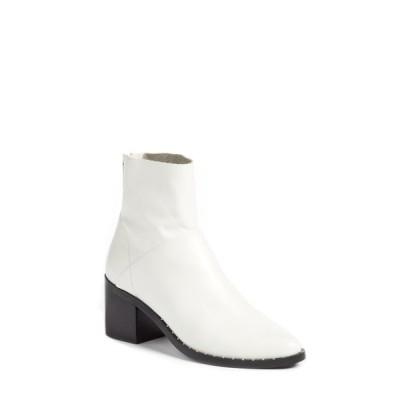 トレジャーアンドボンズ ブーツ&レインブーツ シューズ レディース Farrah Studded Bootie White Leather