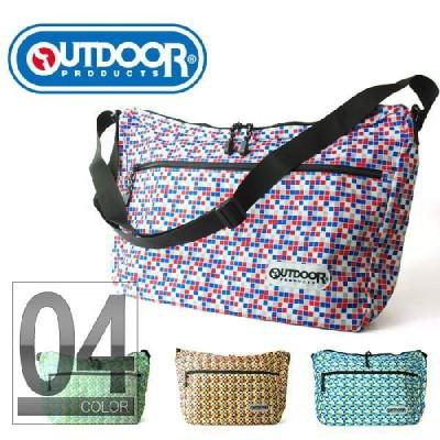 OUTDOOR PRODUCTS アウトドアプロダクツ カラフルモザイク ショルダーバッグ ODW-07 通勤通学カバン鞄レディースキッズユニセックス