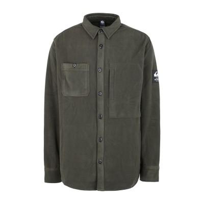 クイックシルバー QUIKSILVER シャツ ダークグリーン S ポリエステル 100% シャツ