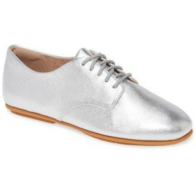 フィットフロップ サンダル シューズ レディース Adeola Derby Flat Silver Leather