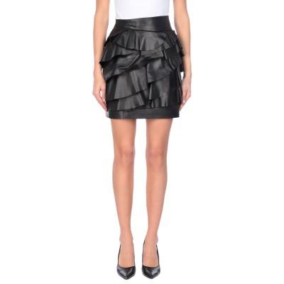 ディースクエアード DSQUARED2 ミニスカート ブラック 36 羊類革 100% ミニスカート