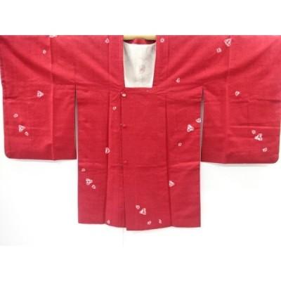 リサイクル 絞り抽象花模様手織り真綿紬道行コート
