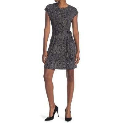 エイチ ホルストン レディース ワンピース トップス Extended Shoulder Draped Front Dress CASA BLK