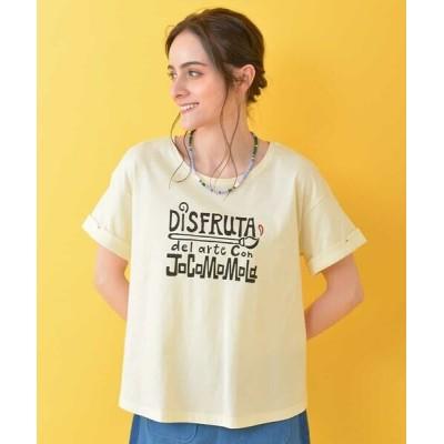 Jocomomola/ホコモモラ Arte ロゴプリントTシャツ アイボリー 40