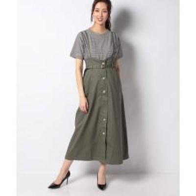 グリーンパークスSUGAR SPOON ベルト付ジャンパースカート