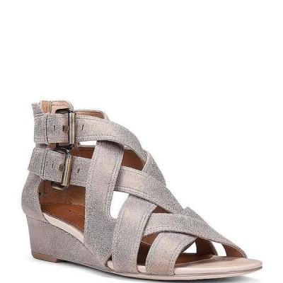 ドナルドプリネール レディース サンダル シューズ Valencia Metallic Leather Wedge Gladiator Sandals