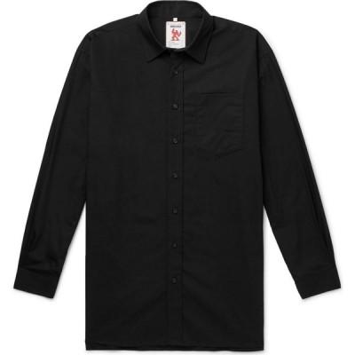 アクネ ストゥディオズ ACNE STUDIOS メンズ シャツ トップス Solid Color Shirt Black