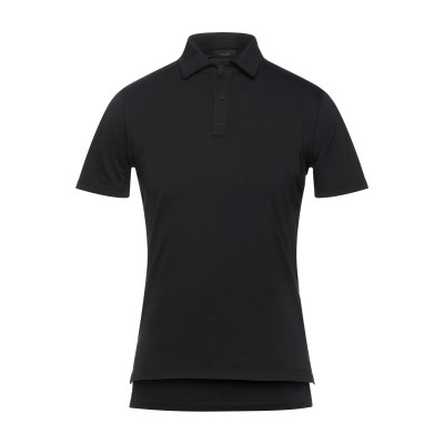 カオス KAOS ポロシャツ ブラック S コットン 100% ポロシャツ