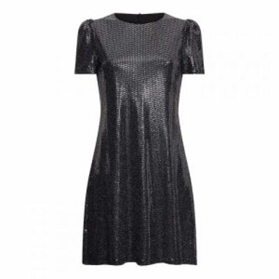 メーラ Mela レディース パーティードレス チュニックドレス ワンピース・ドレス Sequin Metallic Tunic Dress Silver