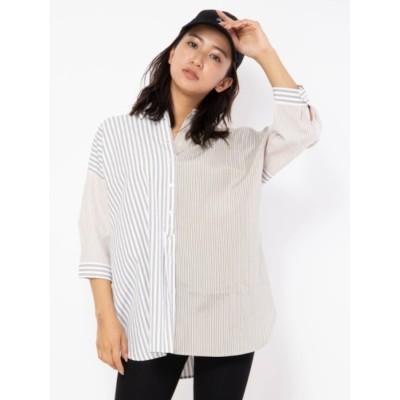 【セシルマクビー/CECIL McBEE】 ブロッキングシャツ