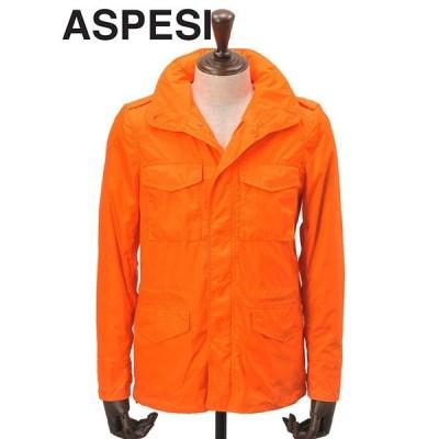 ジャケット ミリタリー m65 メンズ Men's アスペジ ASPESI フィールド MINIFILD オレンジ マジックテープ 撥水ナイロン 国内正規品
