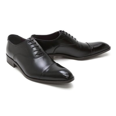 ビジネスシューズ 本革 ストレートチップ キャップトゥ レベルソ ブラック革靴 クインクラシコ Queen Classico 53003 BK ブラック(黒) キャップトゥ レベルソ