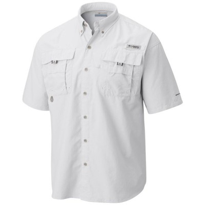 コロンビア シャツ トップス メンズ Men's PFG Bahama II Short Sleeve Shirt White