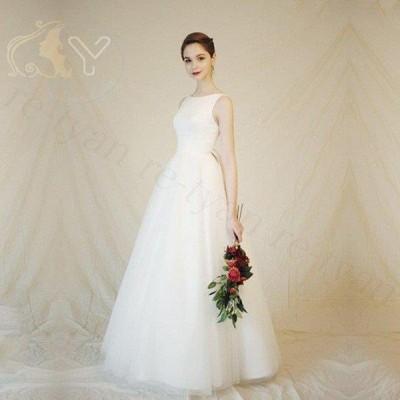 ウェディングドレス 二次会 花嫁 白 ワンピース プリンセス シンプル ウエディングドレス 結婚式 服装 前撮り 後撮り白 Aラインドレス ブライダルドレス30代40代