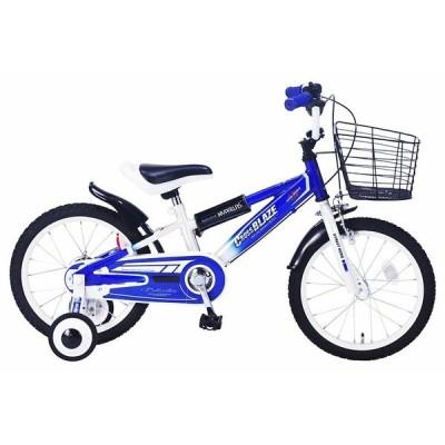 補助輪付き 子供用自転車 16インチ ジュニア 子供自転車  MyPallas マイパラス MD-10 ブルー色