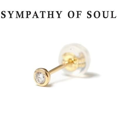 シンパシーオブソウル ピアス ゴールド SYMPATHY OF SOUL Gem Pierce K18YG w / Diamond ジェム ピアス K18 イエローゴールド ダイヤモンド