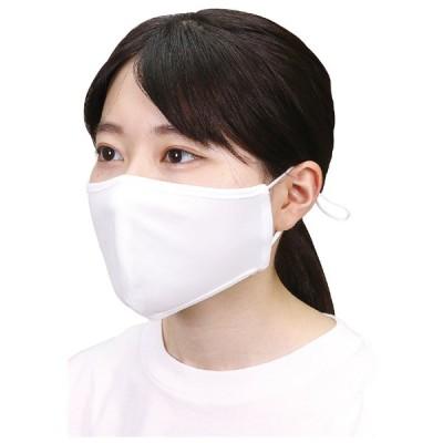 ひんやりマスク 抗菌・速乾 マスク 熱中症対策と紫外線対策 繰り返し洗濯可能 ゴムの調節可能 1枚入り ひんやりUVカットマスク 白色 51152
