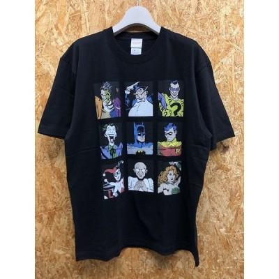 JUSTICE LEAGUE ジャスティスリーグ XL メンズ Tシャツ アメコミ ビッグプリント 丸首 ボックスカット カットソー 半袖 綿100% ブラック 黒