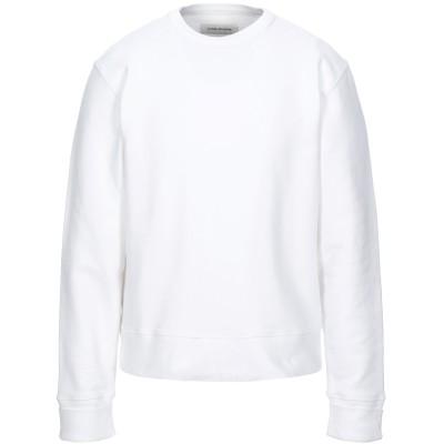 A_PLAN_APPLICATION スウェットシャツ ホワイト M コットン 100% / ポリウレタン スウェットシャツ