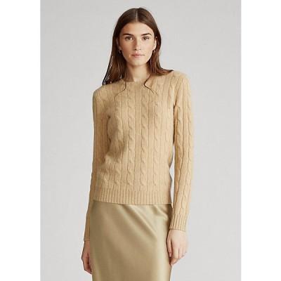 ラルフローレン レディース セーター Polo Ralph Lauren Tie-Dye Cable-Knit Sweater ニット Camel Melange
