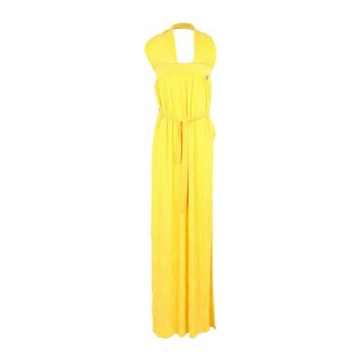 FRANCESCA CONOCI ロングワンピース&ドレス イエロー S ポリエステル 100% ロングワンピース&ドレス
