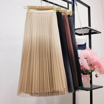 グラデーション カラー スカート 4色