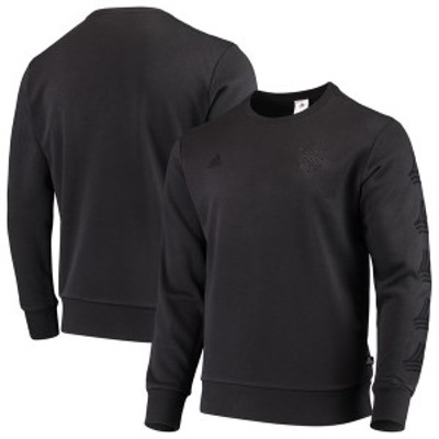 アディダス メンズ パーカー・スウェット アウター New York City FC adidas Tango Pullover Sweatshirt Black