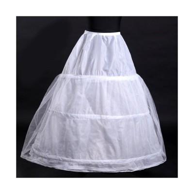 【013-2花嫁ドレス 定番】3段フリル ボリューム パニエ ハードチュール1枚を重ね 裏地付き ふわふわパニエ カラースカート レディース