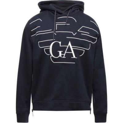 アルマーニ EMPORIO ARMANI メンズ パーカー トップス hooded sweatshirt Dark blue