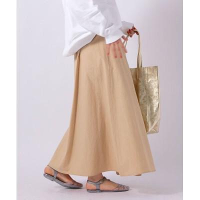 スカート 【WEB限定カラーあり】前タックロングスカート