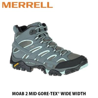 メレル MERRELL レディース トレッキング シューズ Moab 2 Mid GORE-TEX Wide Width モアブ 2 ミッド ゴアテックス ワイド ワイズ 06060W MERW06060W