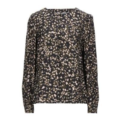 CARACTERE 柄入りシャツ&ブラウス ファッション  レディースファッション  トップス  シャツ、ブラウス  長袖 ミリタリーグリーン