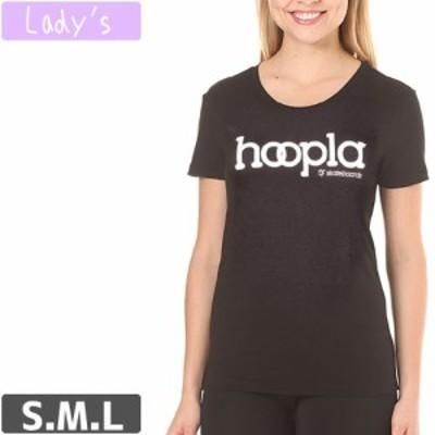 フープラ HOOPLA レディース Tシャツ LOGO LADIES TEE ブラック NO1