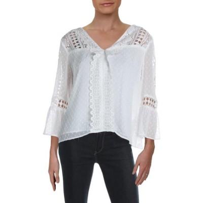 レディース 衣類 トップス Nanette Lepore Womens Bell Sleeves V Neck Top ブラウス&シャツ