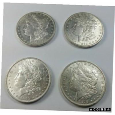 金貨 銀貨 硬貨 シルバー ゴールド アンティークコイン Set of (4) First Year New Orleans Morgan Silver Dollars -1879O, 1880O