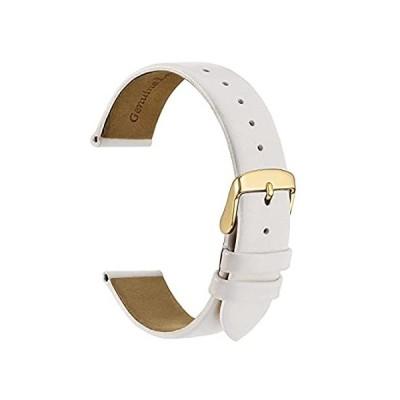 (ウォッチ) WOCCI 腕時計バンド エレガントな本革交換用ストラップ 8mm 10mm 12mm 14mm 16mm 18mm 20mm 男女兼用