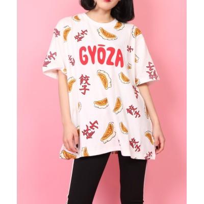 【プニュズ】 フード総柄Tシャツ ユニセックス レッド系 3 PUNYUS