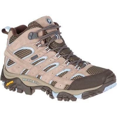 メレル シューズ レディース ハイキング Moab 2 Mid Waterproof Hiking Boot - Women's Brindle