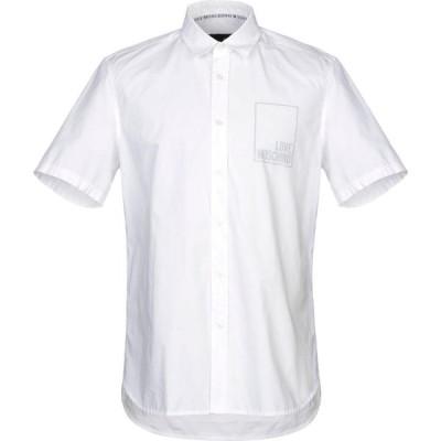 モスキーノ LOVE MOSCHINO メンズ シャツ トップス solid color shirt White