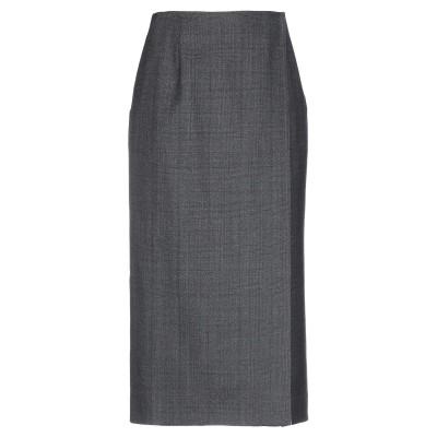CALVIN KLEIN 205W39NYC 7分丈スカート 鉛色 42 ウール 100% 7分丈スカート