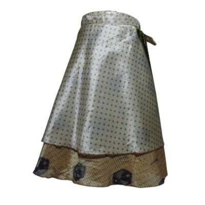 スカート アジアン衣料 ネパール・シルク・ラップスカート29 クリックポスト選択 送料200円