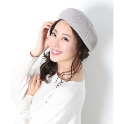 【サンキョウショウカイ】 コットン ベレー帽 レディース グレージュ フリー sankyoshokai