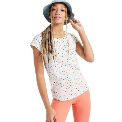 スタイルアンドコー カットソー トップス レディース Petite Graphic-Print Scoop-Neck T-Shirt, Created for Macy's Mix Dot Coconut