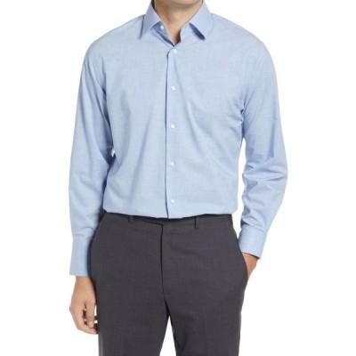 ノードストローム NORDSTROM メンズ シャツ シャンブレーシャツ トップス Traditional Fit Non-Iron Chambray Dress Shirt Blue Cashmere