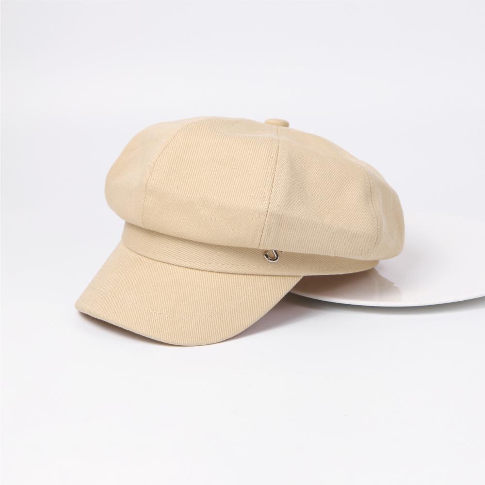SO NICE質感字母裝飾報童帽