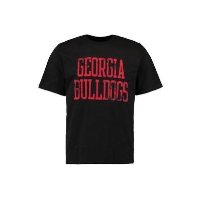ファナティックス ブランディッド カレッジ 大学 スポーツ NCAA アメリカ USA 全米 Georgia ブルドッグス ブラック ストレート Out Tシャツ